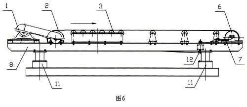 普通型电子皮带秤结构(示意图)